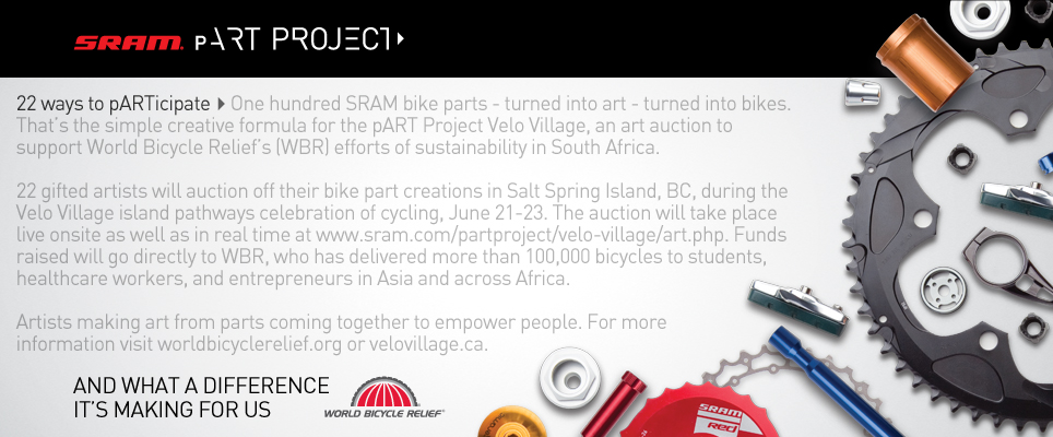 SRAM, arte e World Bicycle Relief