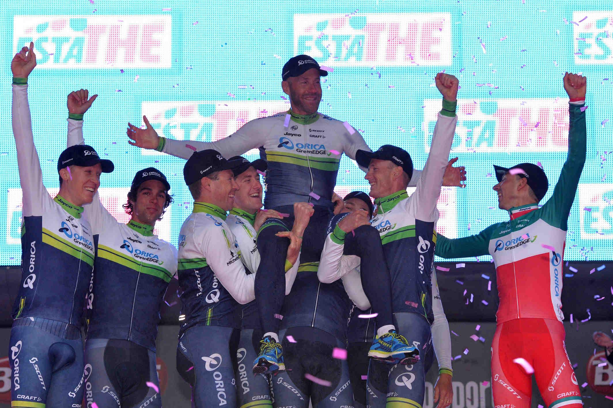 Giro d'Italia 2014: La Orica-GreenEdge e Tuft in rosa