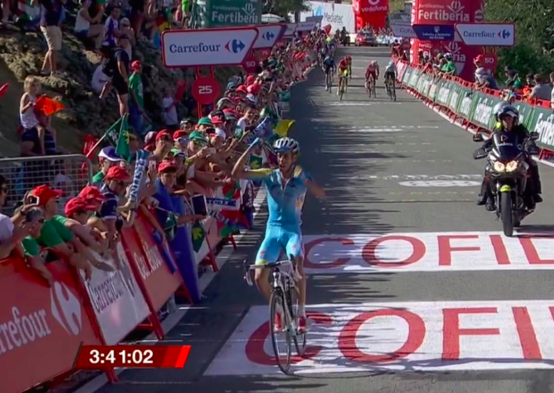 Vuelta 2014. 11^ tappa: Vittoria di Aru e KO per Quintana