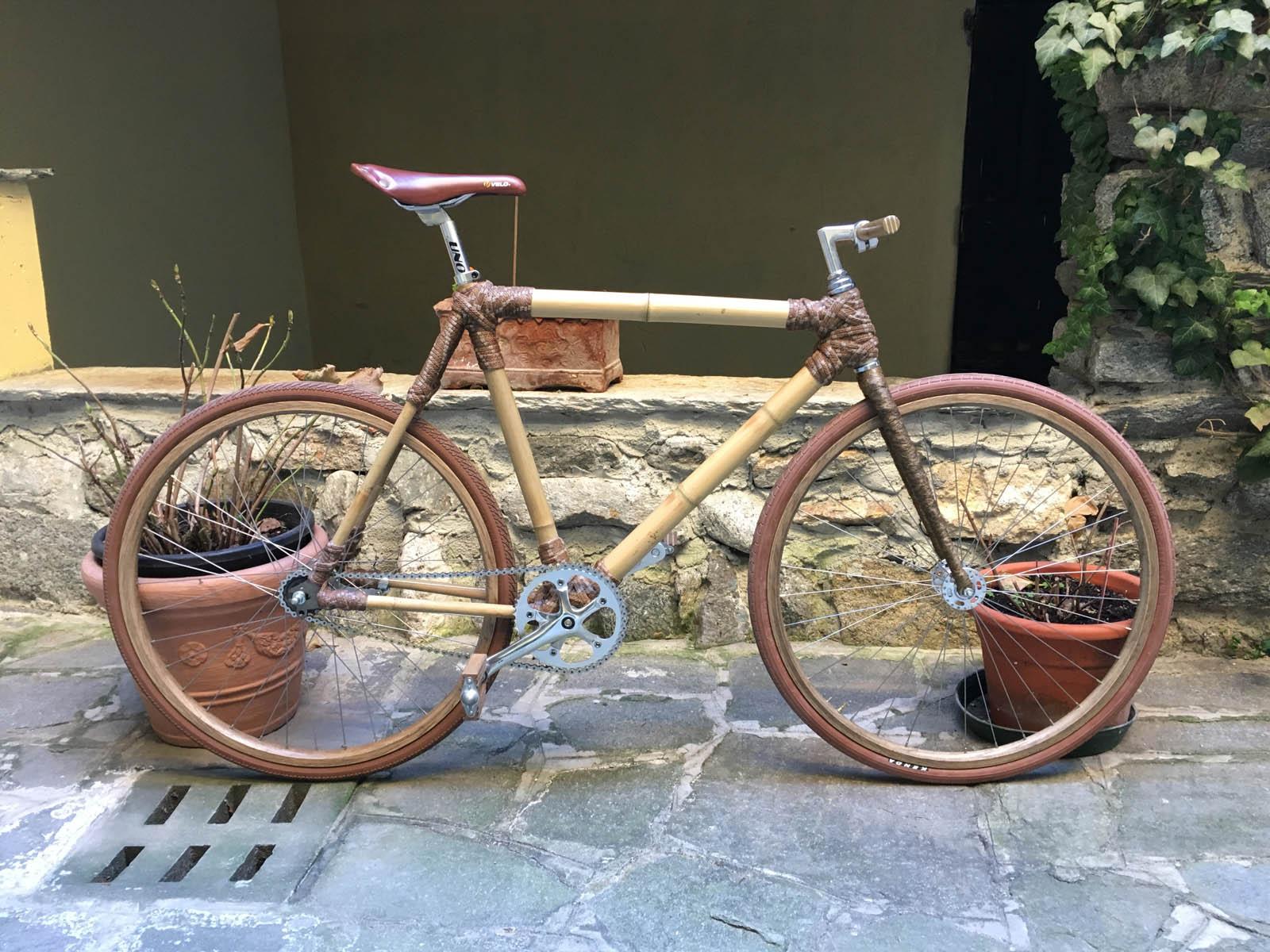 La mia bici in legno