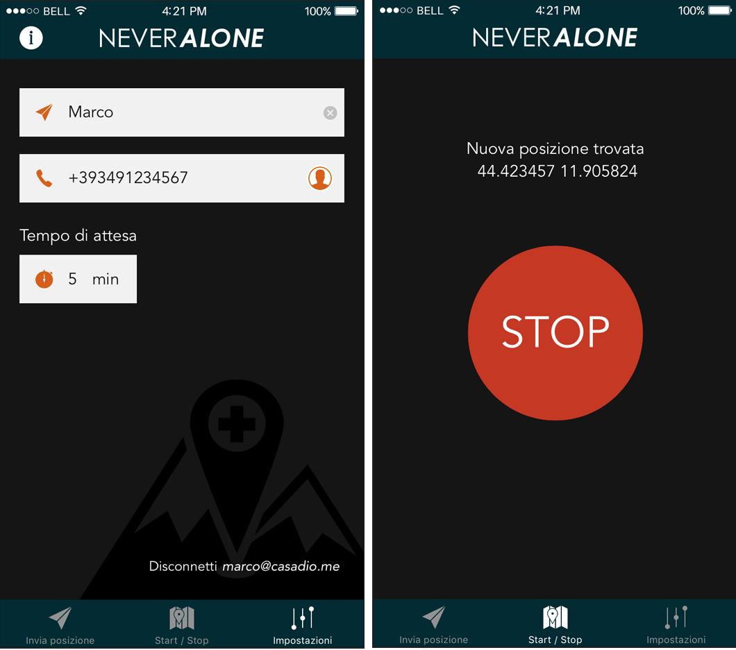 Never Alone: la app che ti salva la vita