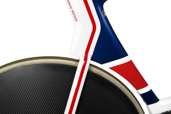 Picture by Paul Currie/SWpix.com - 11/05/2016 - British Cycling - Picture shows the new Olympic GB bike at the National Cycling Centre in Manchester.