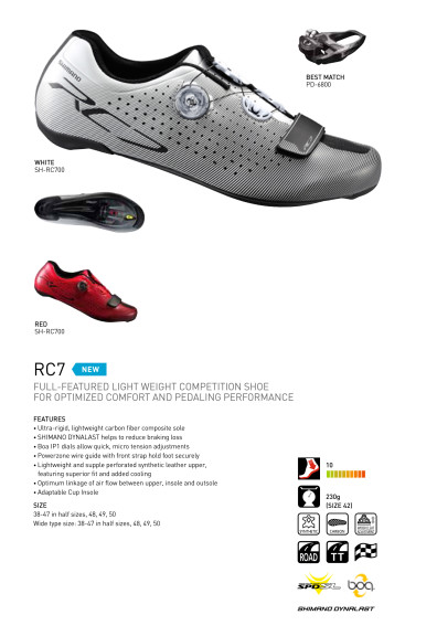 RC7 spec sheet