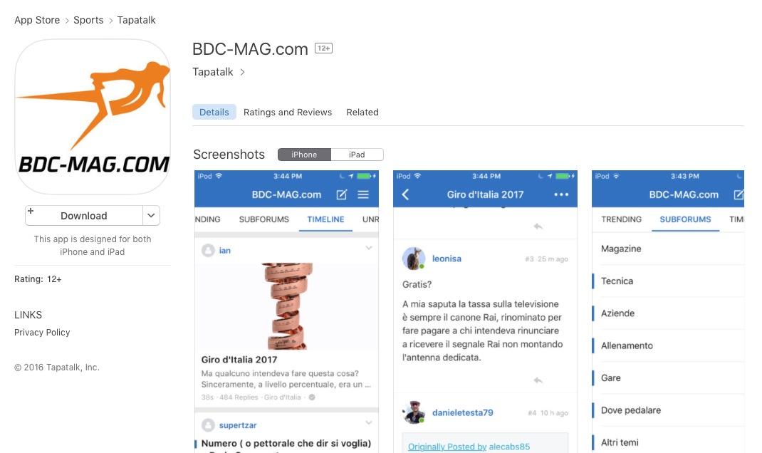 BDC MAG App disponibile!