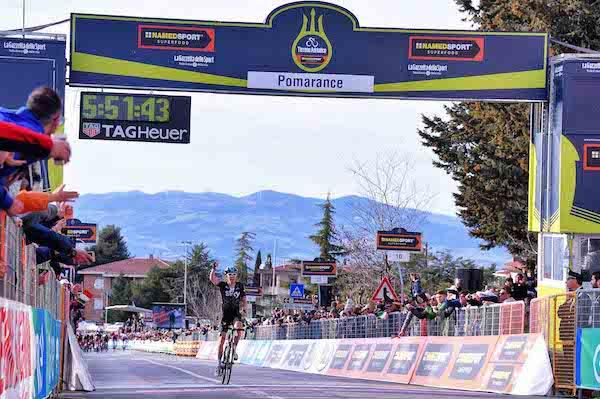 Tirreno-Adriatico 2017: Geraint Thomas super a Pomarance, Van Avermaet ritrova l'Azzurro