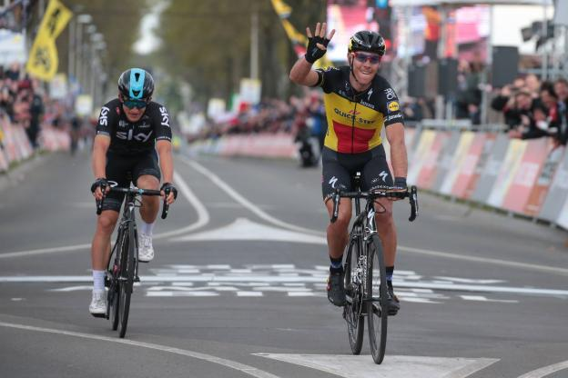 Philippe Gilbert fa poker all'Amstel Gold Race