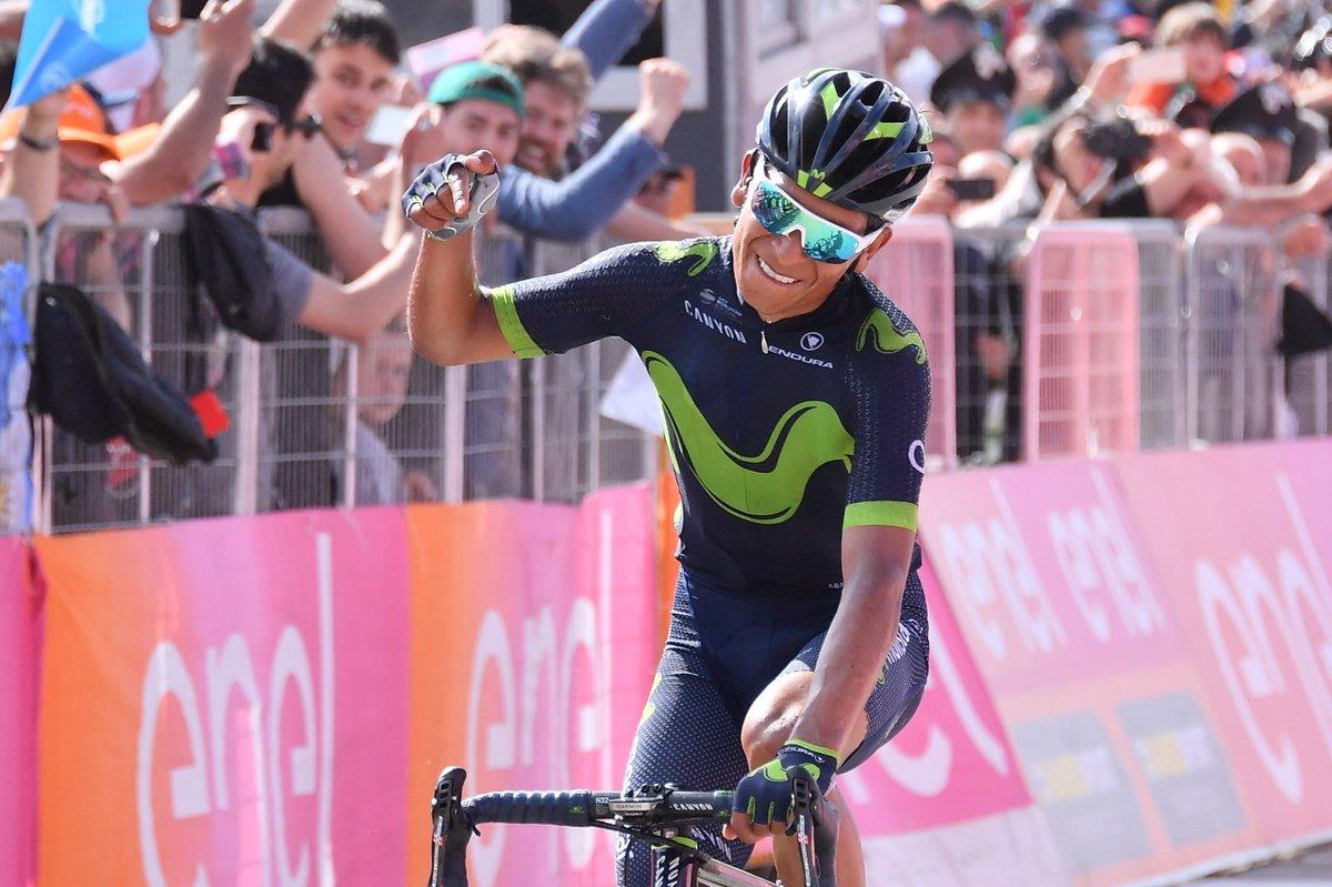 Quintana ha vinto la tappa 9 del Giro d'Italia