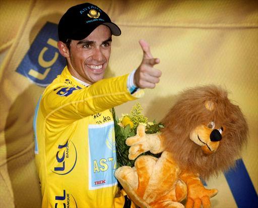 Il saluto di Alberto Contador