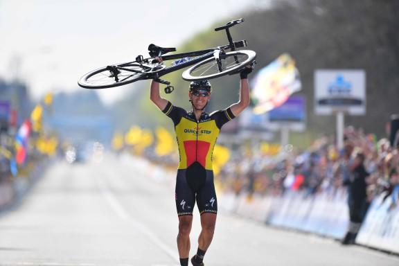 Cycling: 101st Tour of Flanders 2017 / Men Arrival / Philippe GILBERT (BEL)/ Celebration /  Antwerpen - Oudenaarde (260km)/ Men / Ronde Van Vlaanderen / Tour of Flanders / RVV / © Tim De Waele