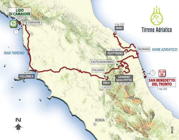 Tirreno-Adriatico 2018: presentata l'edizione 53 nel ricordo di Michele Scarponi