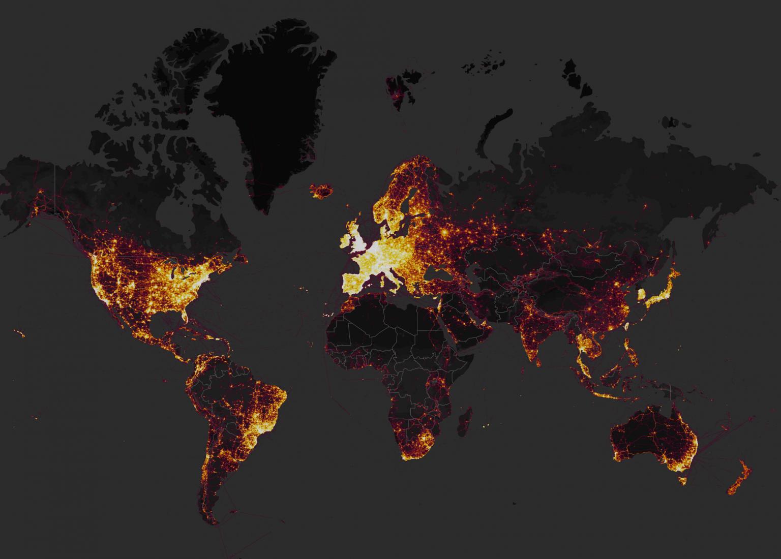 La Strava Heatmap rivela le basi segrete USA