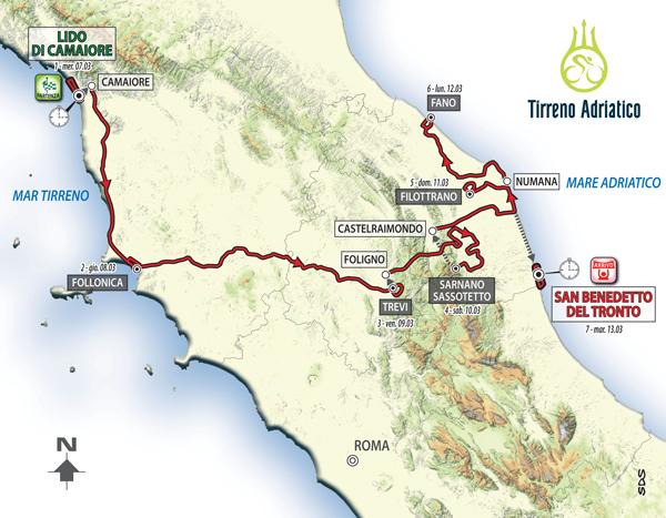 Tirreno-Adriatico 2018, come un Grande Giro