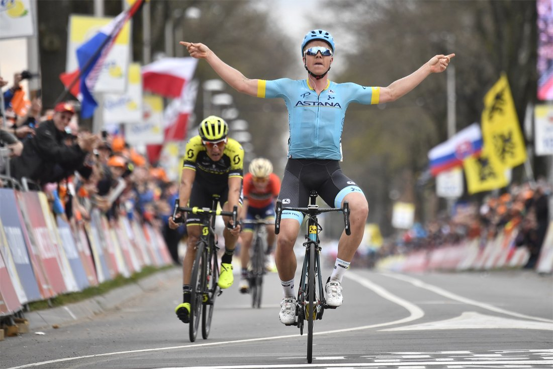 Valgren sorprende i favoriti all'Amstel Gold Race