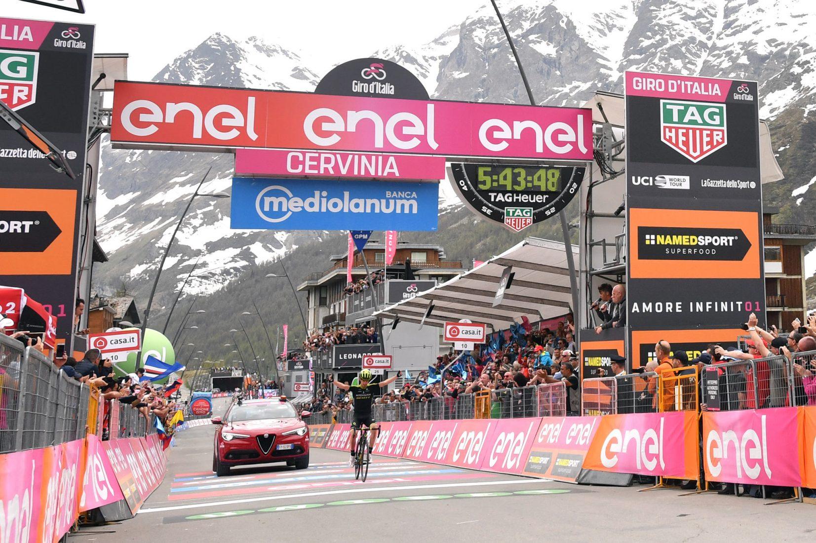 Giro 101: Froome, Roma è a un passo. Tempesta di Nieve a Cervinia.