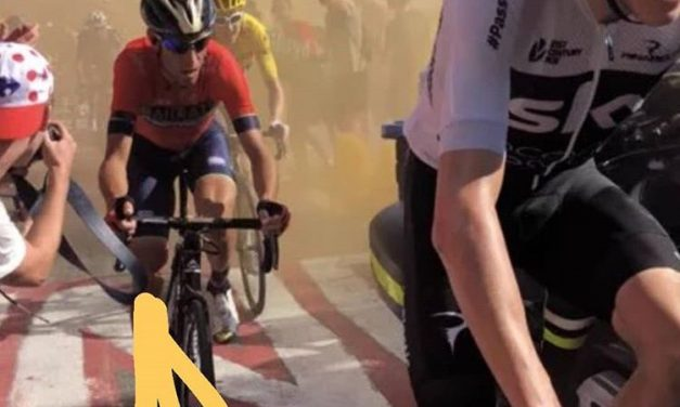 La caduta di Nibali al Tour