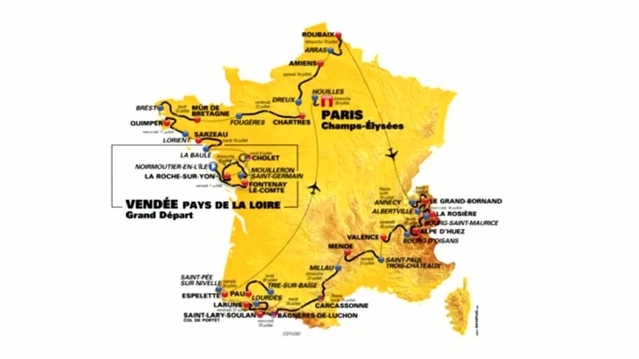 Fernando Gaviria ha vinto la prima tappa del Tour de France 2018, da Noirmoutier-en-l'Ile a Fontenay-le-Comte