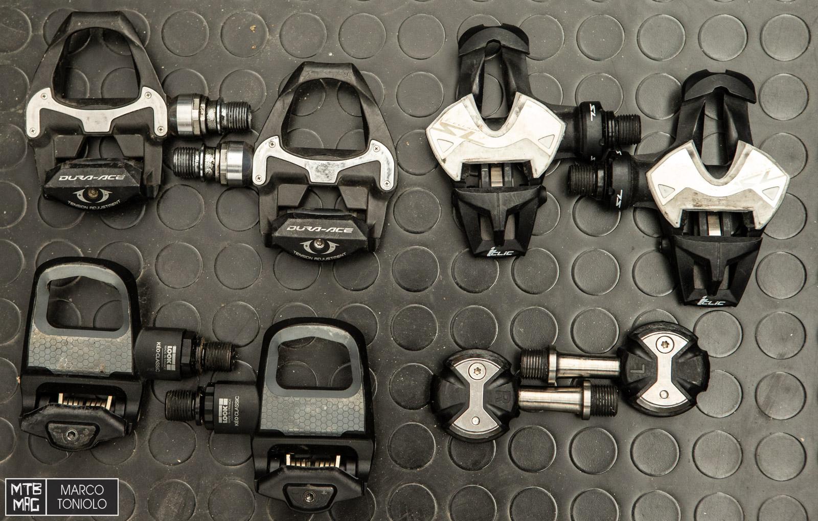 I vari tipi di pedale per le bici da corsa