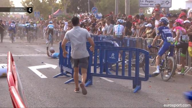 Corridori caduti alla Vuelta a causa dell'elicottero