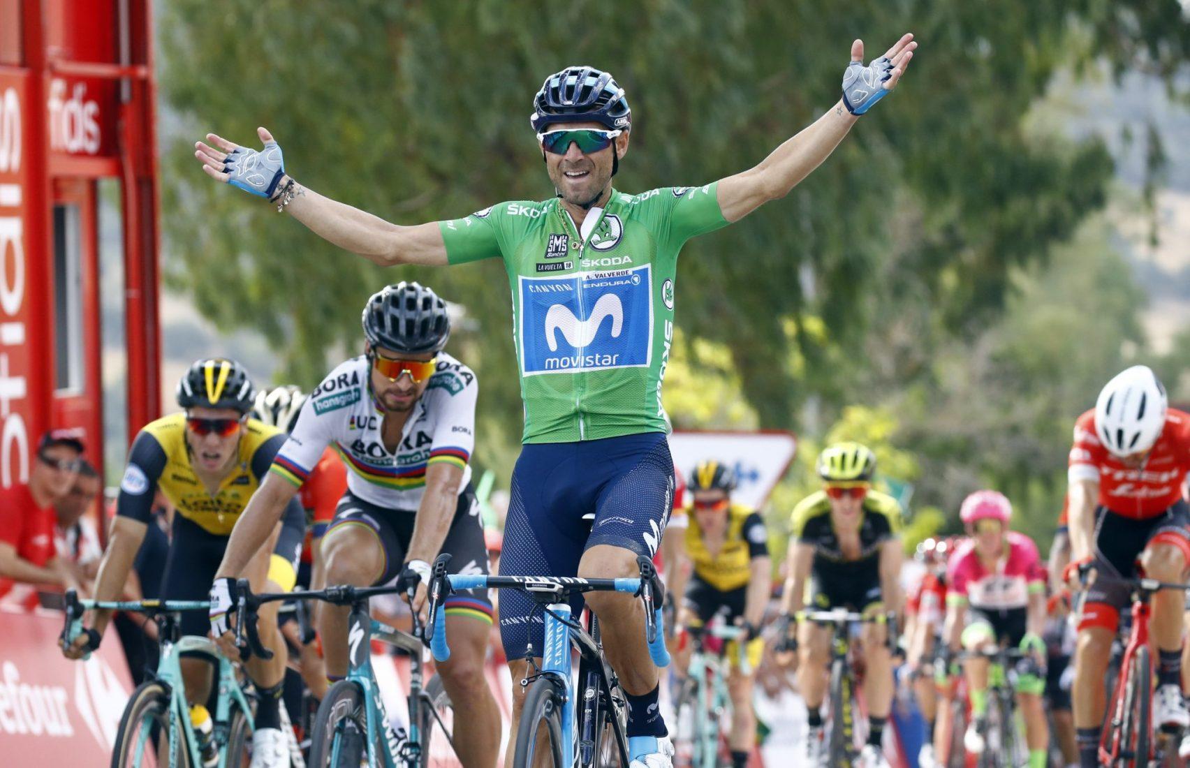 Vuelta 2018: Valverde batte Sagan allo sprint