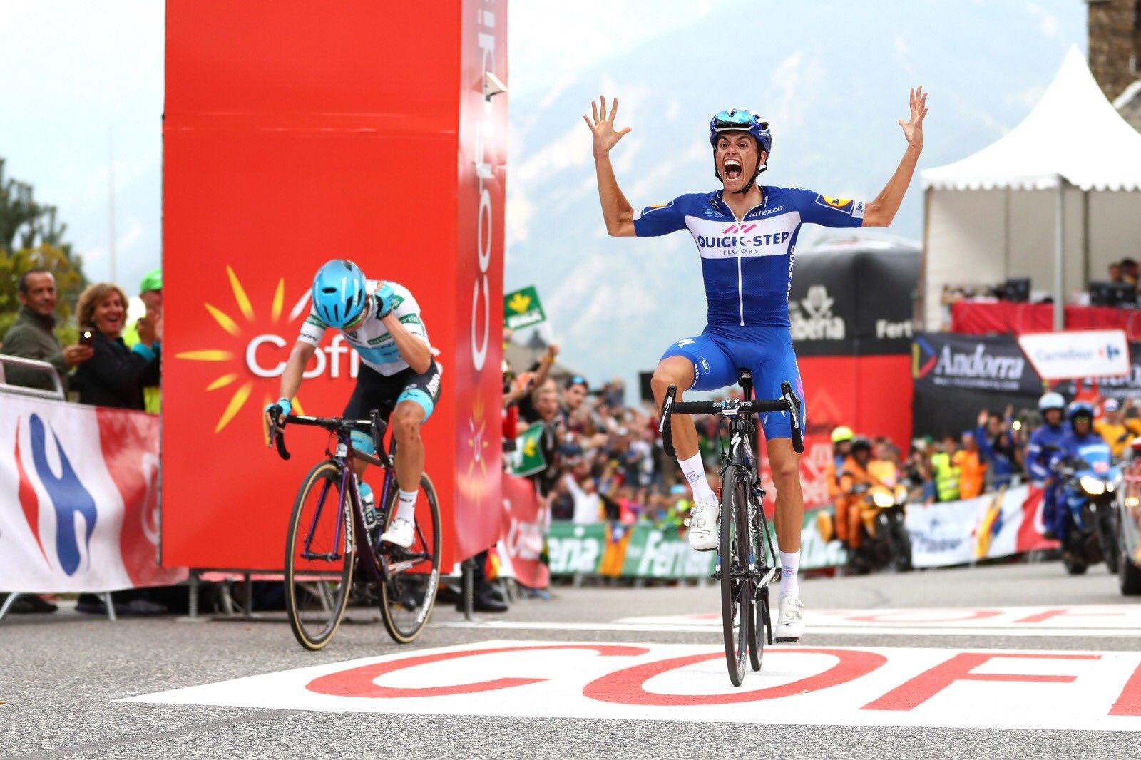 Vuelta 2018: Mas vince in montagna, a Yates la maglia rossa