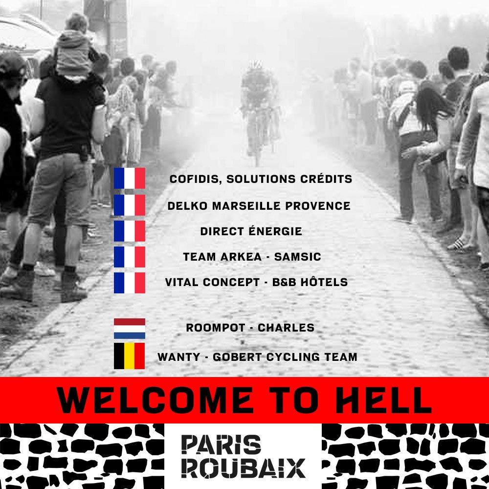 Le Wild-Cards per la Paris-Roubaix 2019