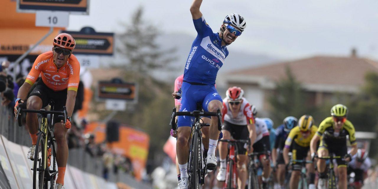 Tirreno-Adriatico: Alaphilippe vince la Tappa 2. Adam Yates è  Maglia Azzurra