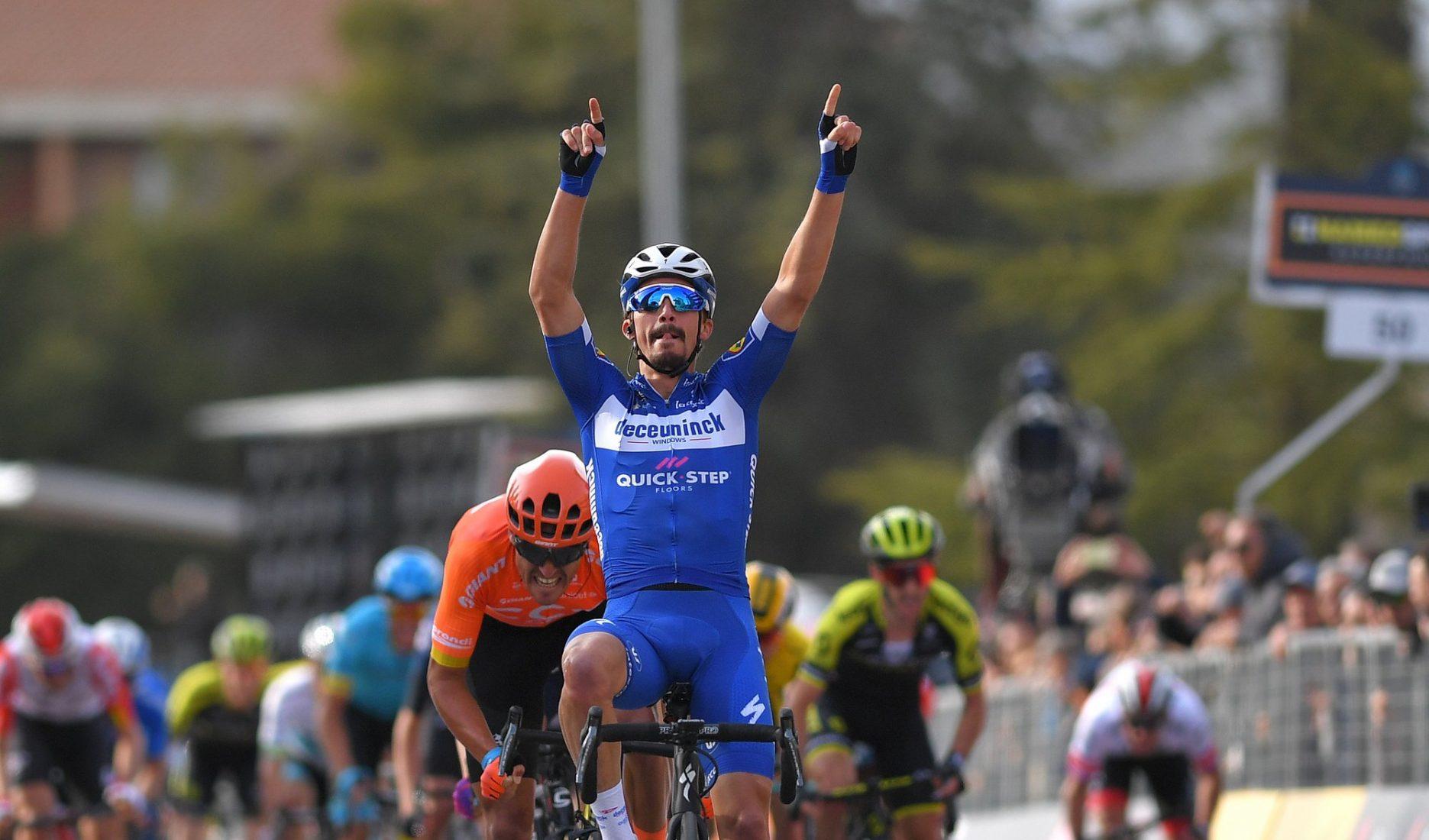 Tirreno-Adriatico: Julian Alaphilippe vince la 6^ tappa