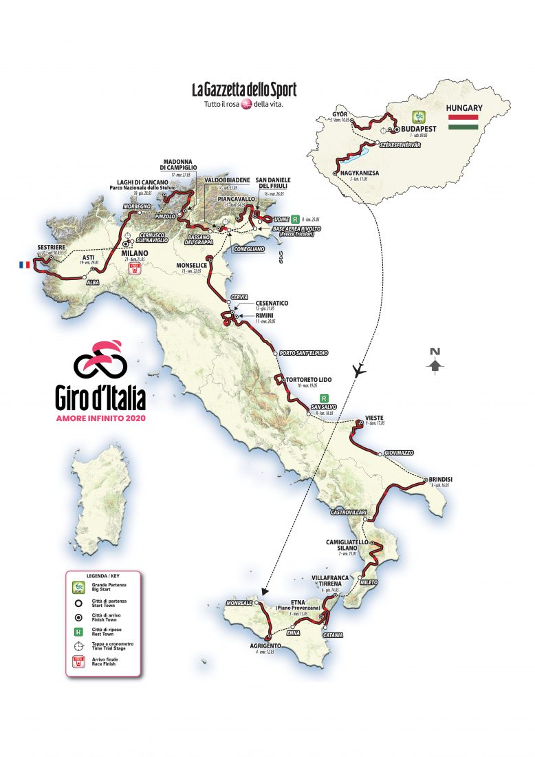 Da Budapest a Milano, ecco il 103^ Giro d'Italia