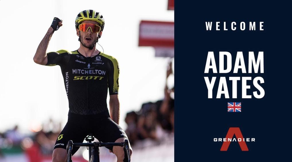 Ciclomercato: Adam Yates alla Ineos