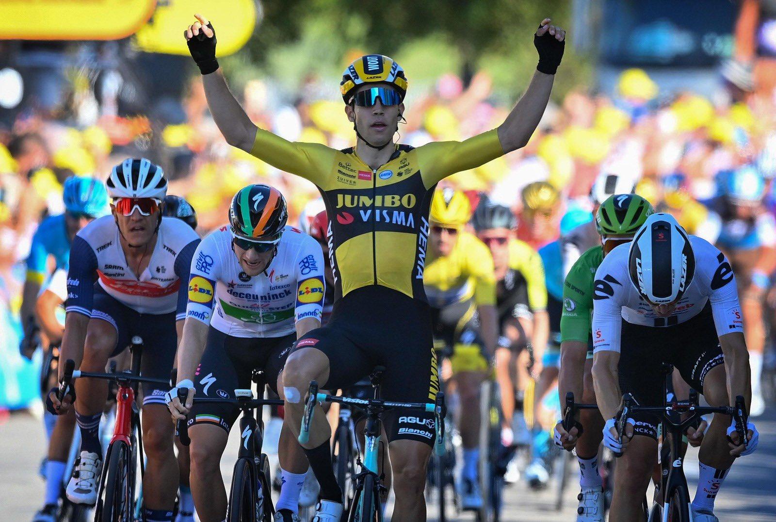 Tour 2020: Van Aert trova lo sprint giusto. Alaphilippe perde la maglia gialla