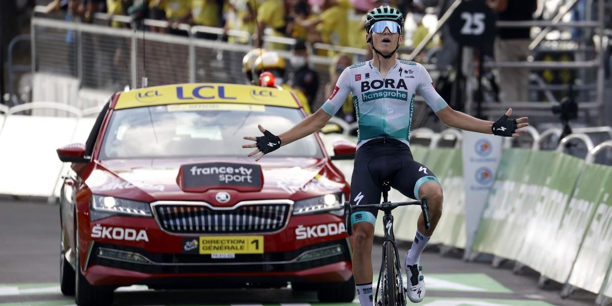 Tour 2020: Lennard Kämna porta una tappa alla Bora
