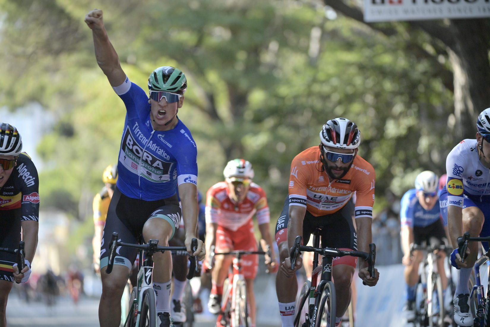 Tirreno-Adriatico 2020: Ackermann ha vinto anche la seconda tappa