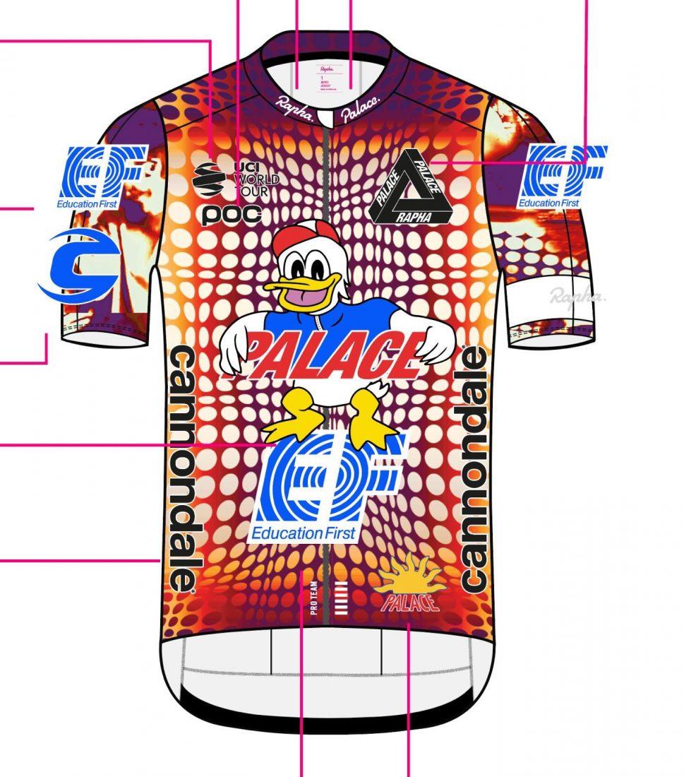 Rapha e Palace Skateboards debuttano con un kit per il Team EF Pro Cycling al Giro d'Italia 2020