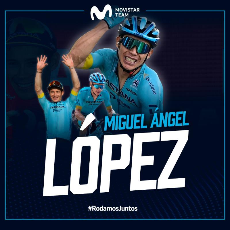 Ciclomercato: Miguel Angel Lopez alla Movistar