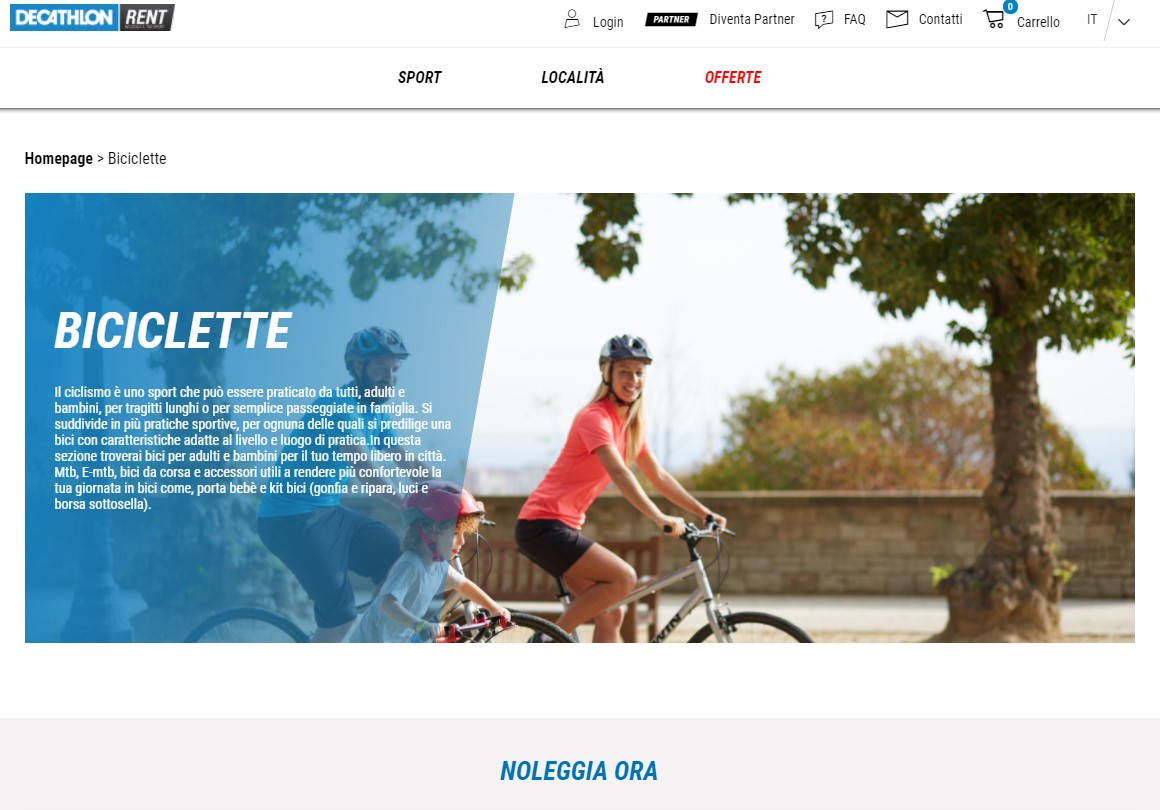 Affittare una bici con Decathlon Rent
