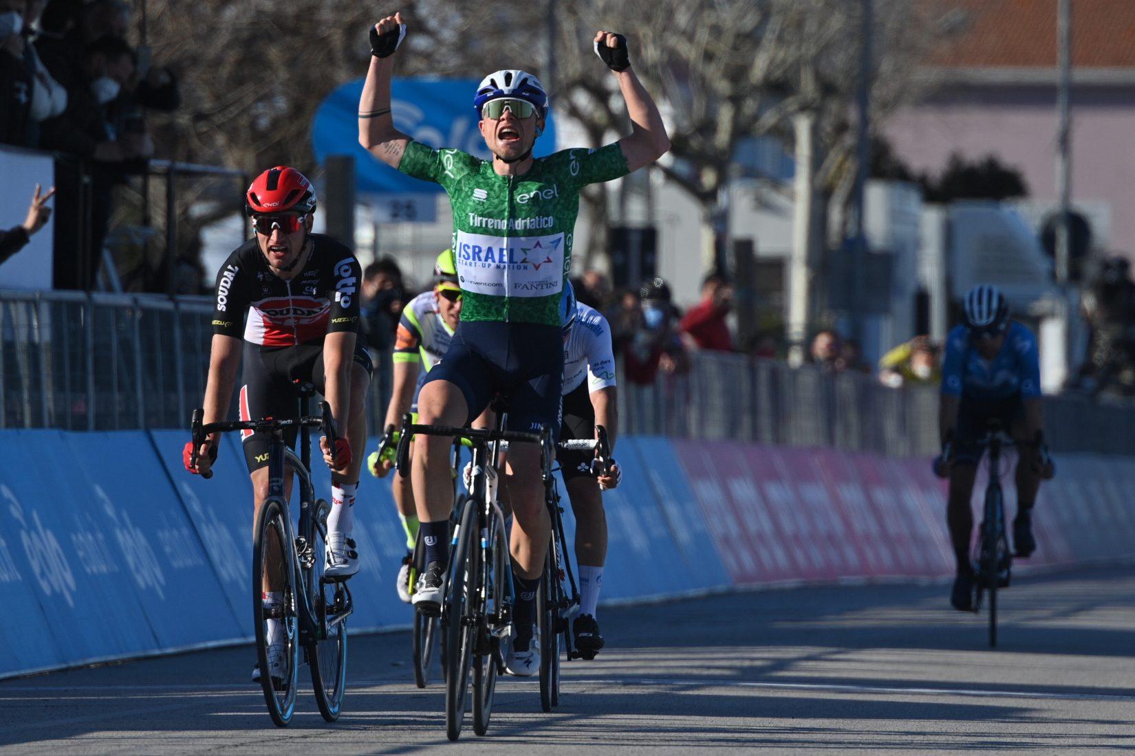 Mads Würtz Schmidt ha vinto la sesta tappa della Tirreno-Adriatico