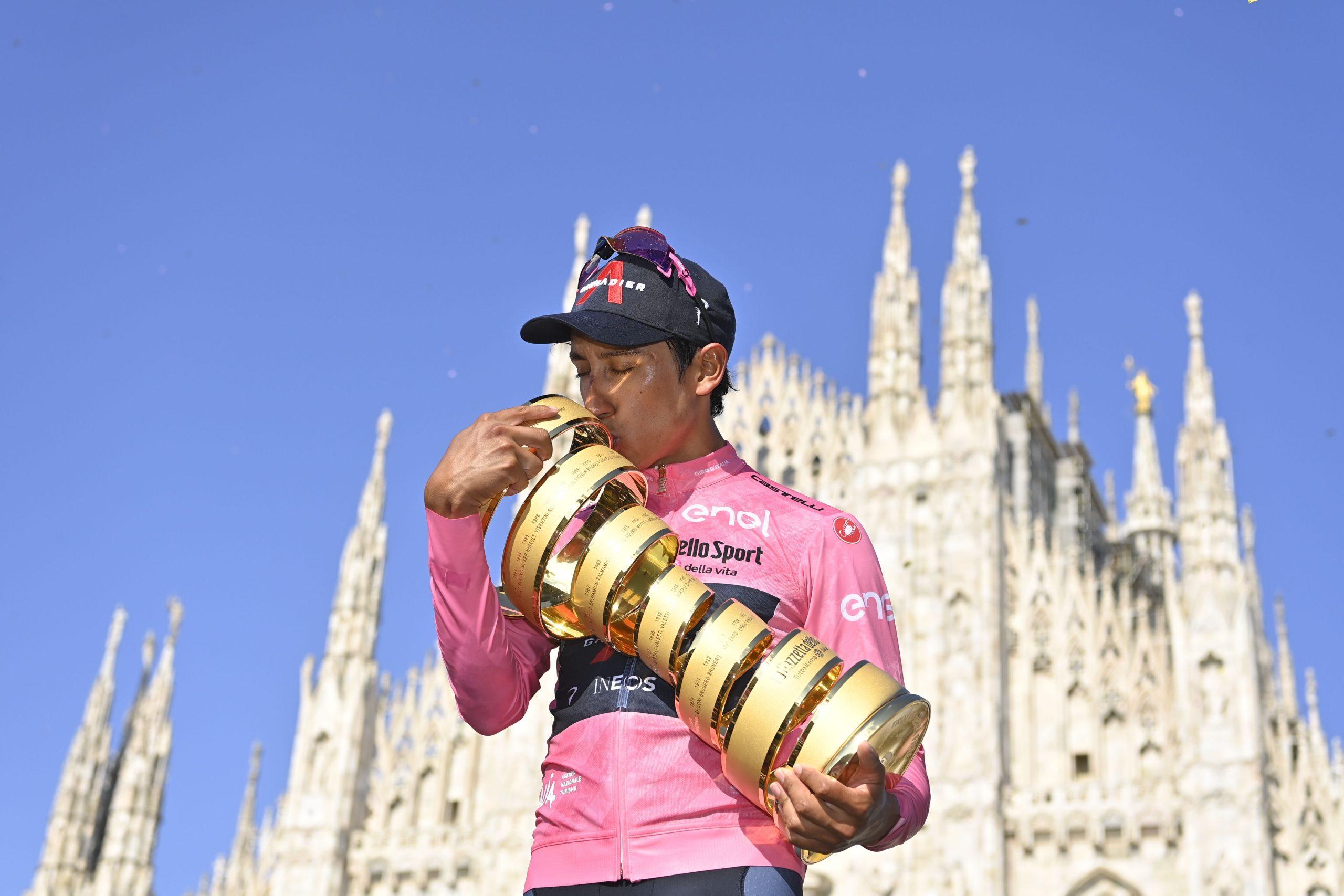 Egan Bernal ha vinto il 104^ Giro d'Italia, Filippo Ganna primo nella cronometro finale