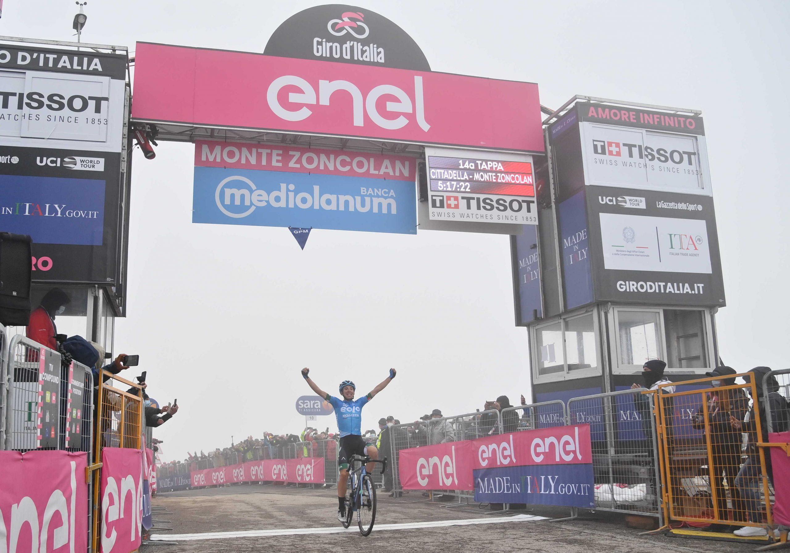 Giro 2021: Lorenzo Fortunato vince la 14^ tappa 14. Egan Bernal aumenta il vantaggio in classifica