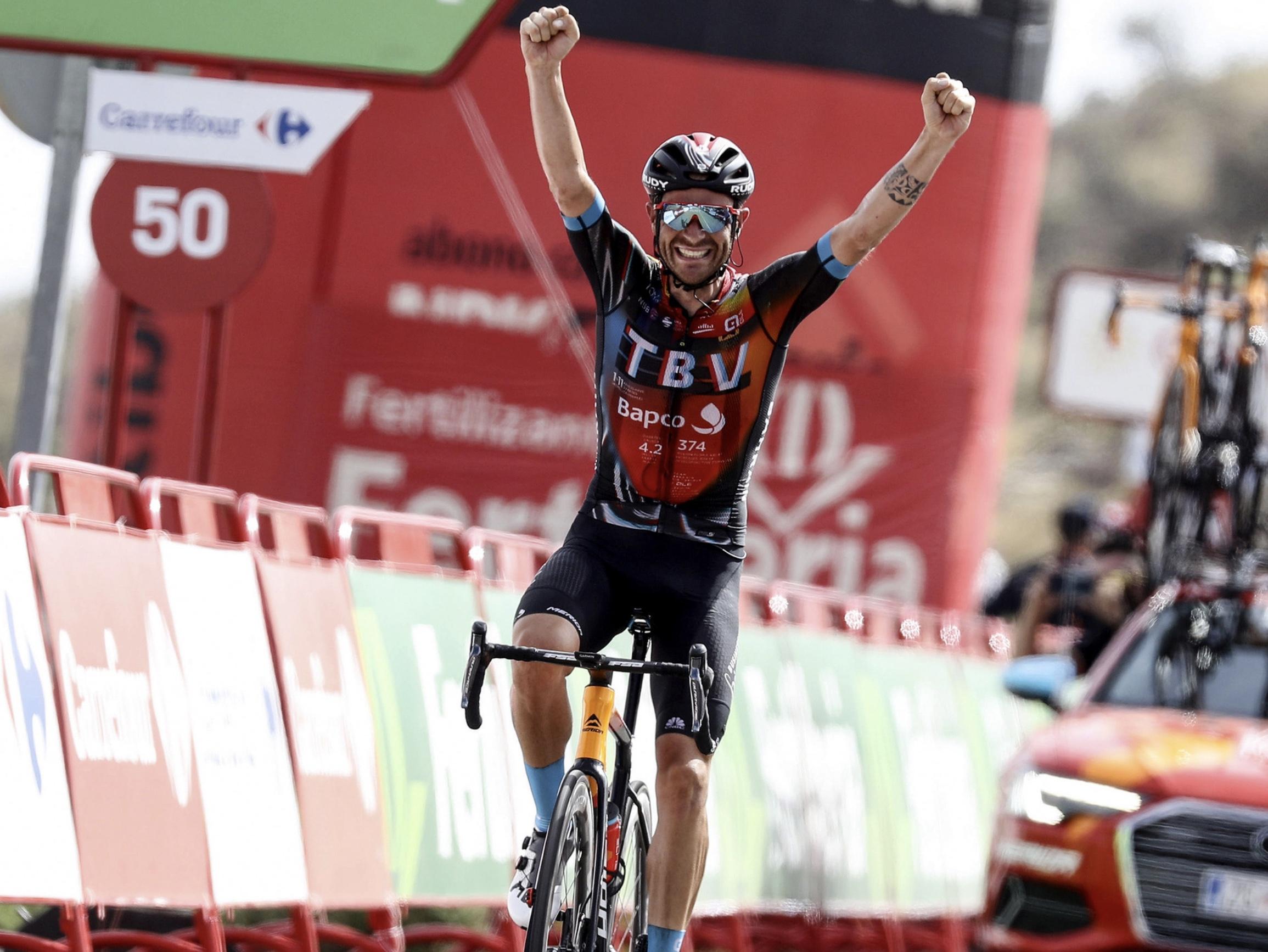 Vuelta 2021: Caruso vince in solitaria la 9^ tappa