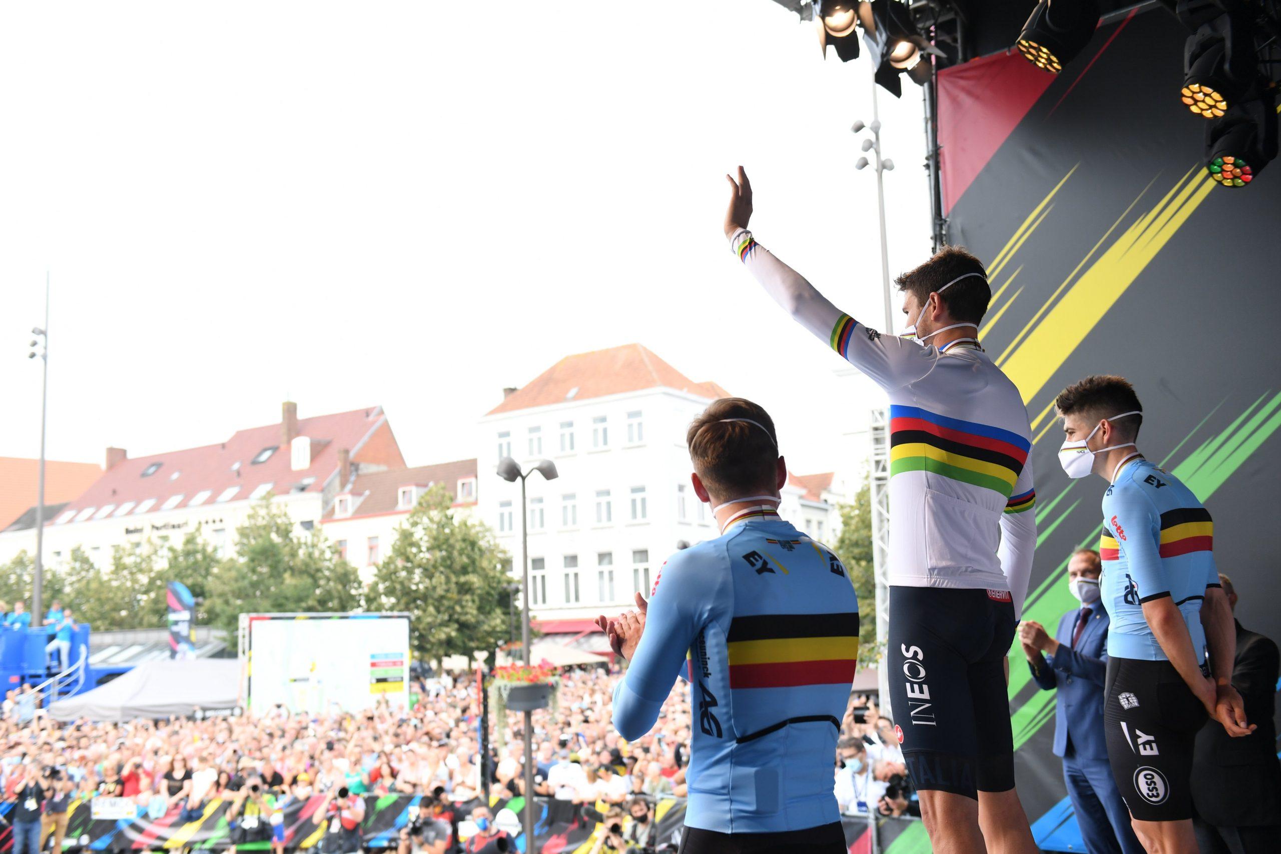 Filippo Ganna si conferma campione del mondo a cronometro
